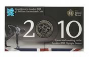 2010 COUNT DOWN TO THE OLYMPICS £5 COIN Long Sleeve